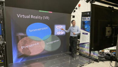Photo of HKU Engineering imseCAVE VR technology zooms into interactive teaching and learning
