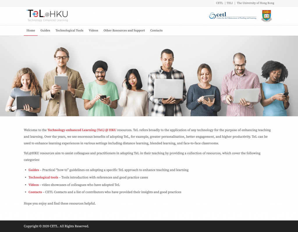apply technology for the purpose of enhancing teaching and learning HKU