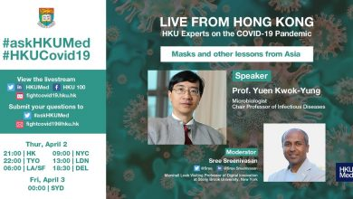 Photo of Live from HK with Prof Yuen Kwok-Yung: Masks and other lessons from Asia