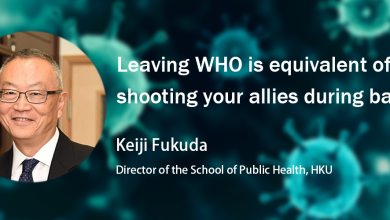 Photo of Keiji Fukuda: Leaving WHO is equivalent of shooting your allies during battle