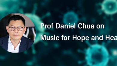 Photo of Prof Daniel Chua on Music for Hope and Healing